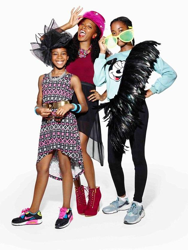 Jamelia let her two daughters, Tiani (10) and Teja (15), dress her