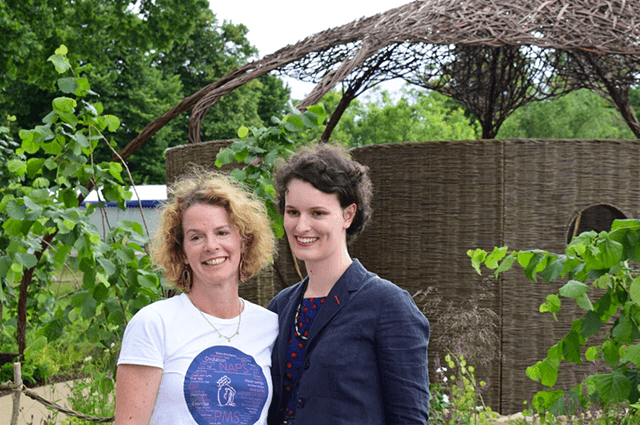 Landscape Architect Emma Bannister, with her daughter Sarah, who has suffered with severe PMS since the age of 14