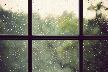 It's raining. What are you doing?