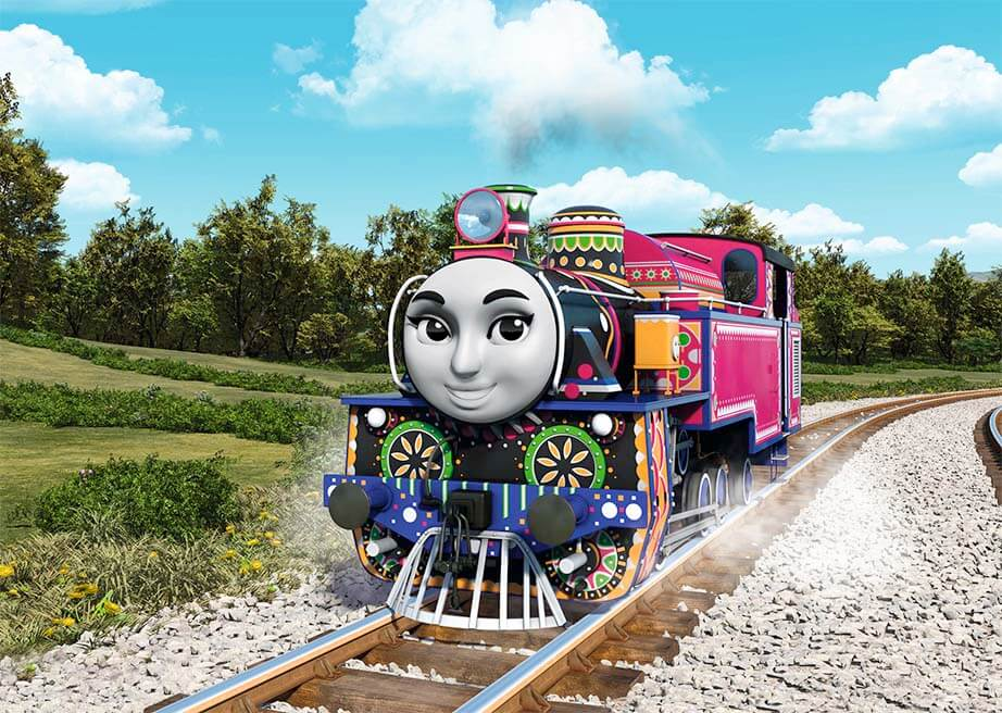 Ashima is one of 14 engines to join Thomas in a new film for release this Summer