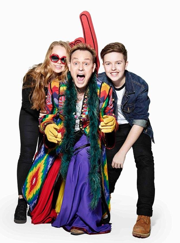 Jason Donovan dons his coat of many colours thanks to daughter Jemma (15) and son Zac (14)